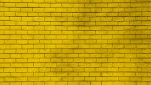 Preview wallpaper wall, brick, yellow, paint, texture
