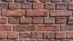 Preview wallpaper wall, bricks, rough, brown, texture