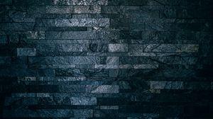Preview wallpaper wall, bricks, tile, dark, ribbed