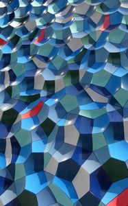 Preview wallpaper wall, edges, shapes, texture, blue