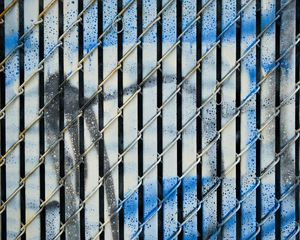 Preview wallpaper wall, mesh, graffiti, stains, texture, blue