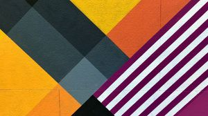 Preview wallpaper wall, mural, abstraction, geometry, colorful