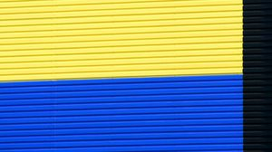 Preview wallpaper wall, stripes, minimalism, building, colorful