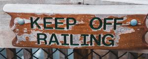 Preview wallpaper warning, sign, wooden, inscription, danger