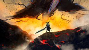 Preview wallpaper warrior, knight, sword, fantasy, art