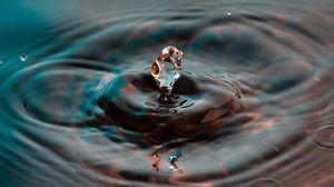 Preview wallpaper water, splash, divorce, drop