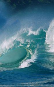 Preview wallpaper wave, ocean, splash, sea, force, splashes