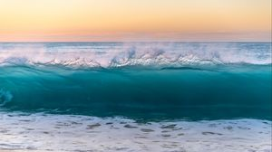 Preview wallpaper wave, sea, surf, water, spray, foam
