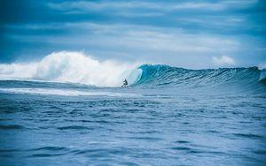 Preview wallpaper wave, surfer, surfing, ocean, water