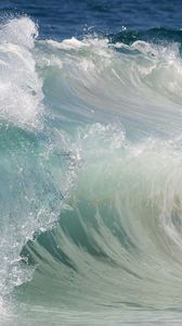 Preview wallpaper wave, water, sea, stream, force