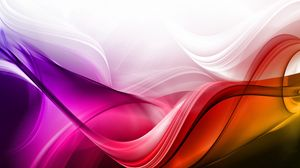 Preview wallpaper waves, background, colorful, lines