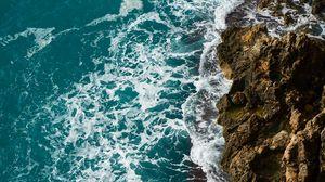 Preview wallpaper waves, rocks, surf, foam, sea, ocean