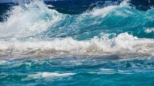 Preview wallpaper waves, sea, surf, foam