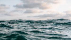 Preview wallpaper waves, surface, water, horizon, closeup