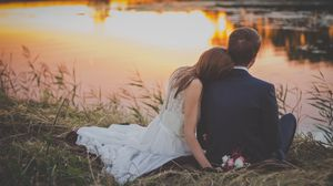 Preview wallpaper wedding, newlyweds, couple, romance, love