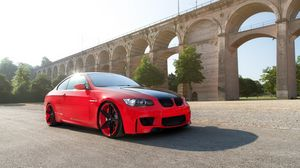 Preview wallpaper wheels, e92, bmw, m3, coupe, red