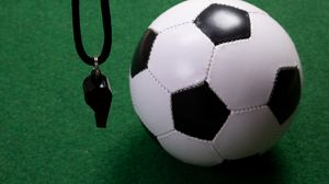 Preview wallpaper whistle, ball, football, sport
