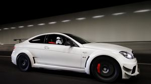 Preview wallpaper white, mercedes, cars