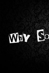 Preview wallpaper why so serious, inscription, background, texture