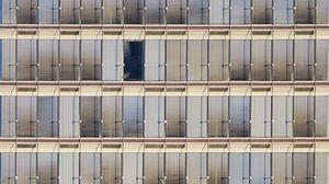 Preview wallpaper windows, facade, blinds, building