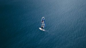 Preview wallpaper windsurfing, surfer, water, aerial view