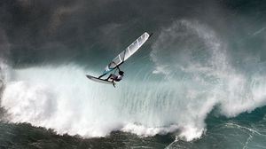 Preview wallpaper windsurfing, wave, water, sports