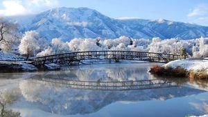 Preview wallpaper winter, bridge, landscape