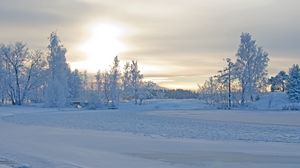 Preview wallpaper winter, winter landscape, trees, snow, frost, beautifully