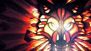 Preview wallpaper wolf, flash, anger, light, aggression