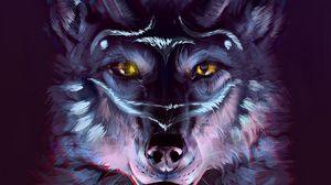Preview wallpaper wolf, portrait, art, predator