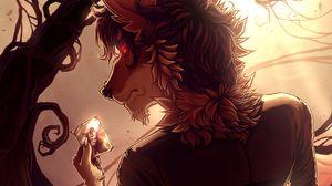Preview wallpaper wolf, werewolf, photography, art