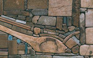 Preview wallpaper wooden, texture, beam