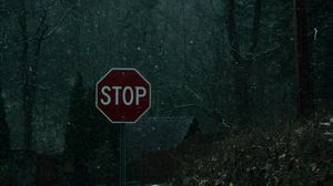 Preview wallpaper words, sign, ban, snow