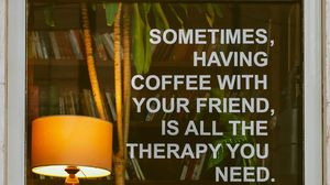 Preview wallpaper words, text, coffee, cafe, lamp, books