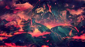 Preview wallpaper world, fantasy, apocalypse, blast, paint