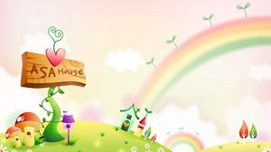 Preview wallpaper world, magic, rainbow, sign, nature