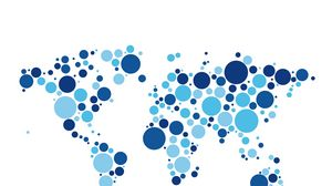 Preview wallpaper world, map, circles, white background