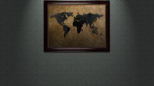 Preview wallpaper world, wallpaper, wall, painting, brown, dark
