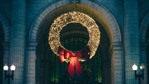 Preview wallpaper wreath, christmas, new year, decoration