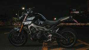 Preview wallpaper yamaha, motorcycle, bike, gray