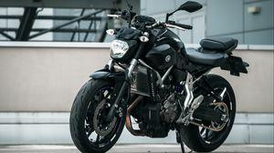 Preview wallpaper yamaha, motorcycle, black