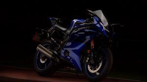 Preview wallpaper yamaha, motorcycle, blue