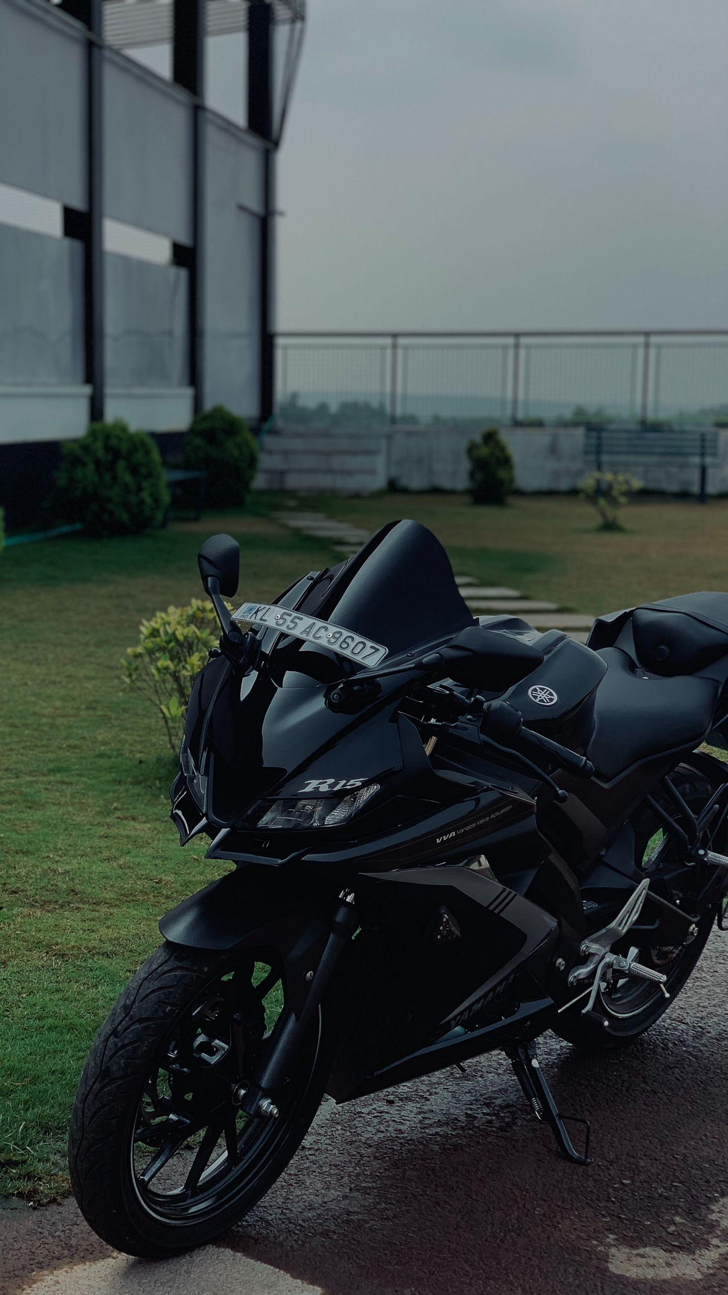 1440x2560 Wallpaper yamaha r15, yamaha, motorcycle, bike, black