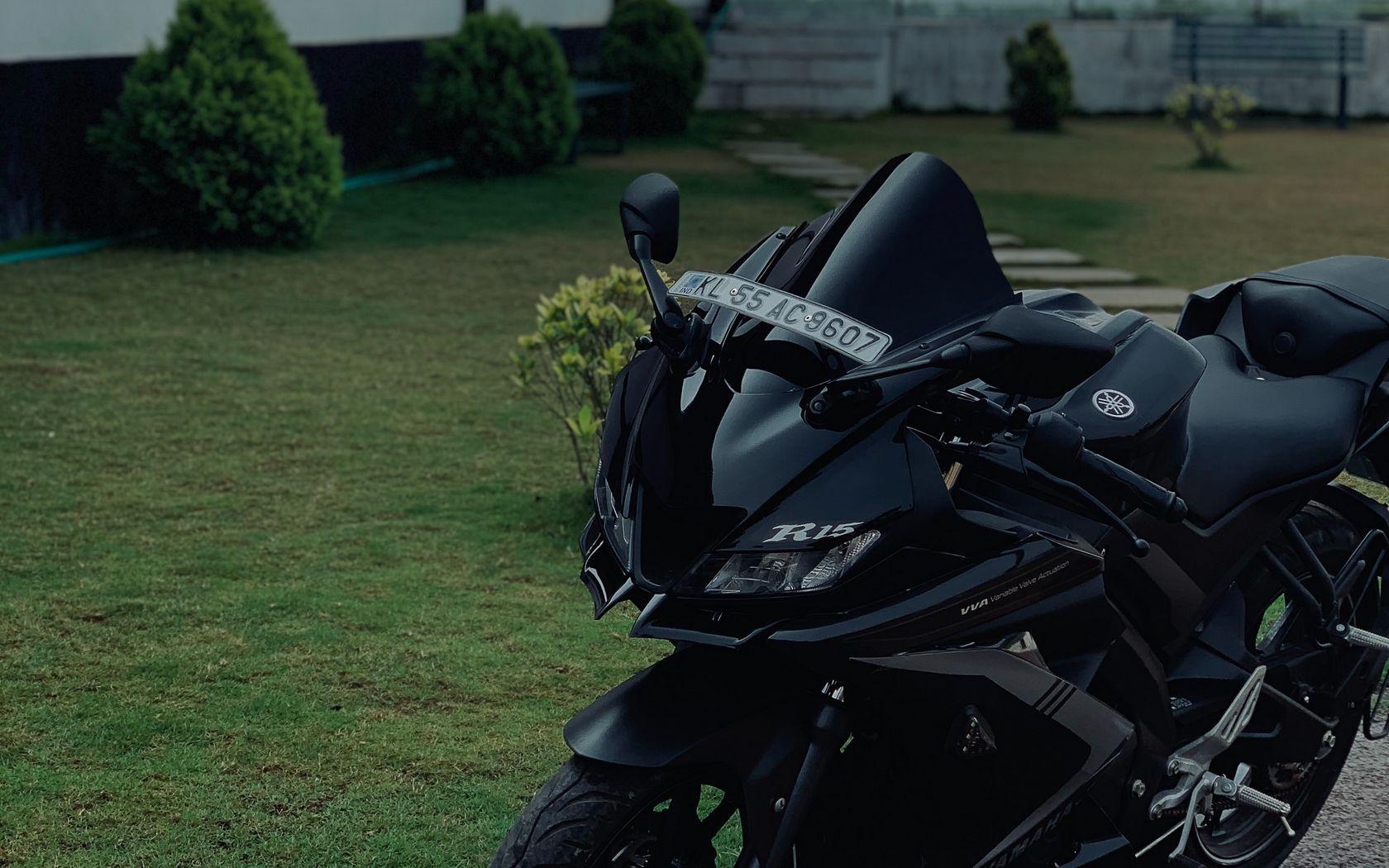 1680x1050 Wallpaper yamaha r15, yamaha, motorcycle, bike, black