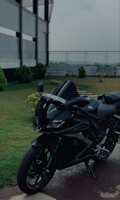 240x400 Wallpaper yamaha r15, yamaha, motorcycle, bike, black