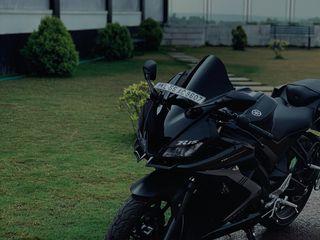 320x240 Wallpaper yamaha r15, yamaha, motorcycle, bike, black