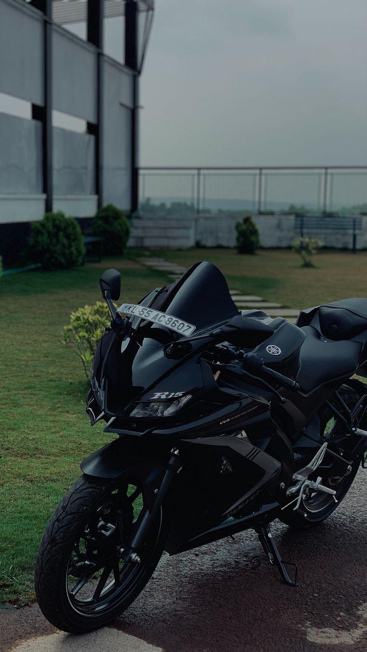 720x1280 Wallpaper yamaha r15, yamaha, motorcycle, bike, black
