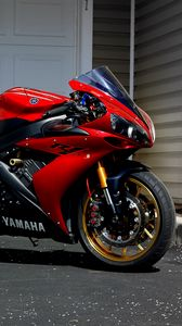 Preview wallpaper yamaha, r1, red, sportbike
