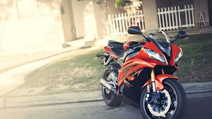 Preview wallpaper yamaha, yzf-r6, red, motorcycle