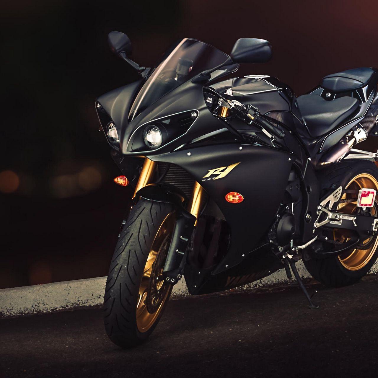 1280x1280 Wallpaper yamaha, yzf-r1, sport bike